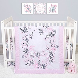 Sammy & Lou 4-Piece Simply Floral Crib Bedding Set