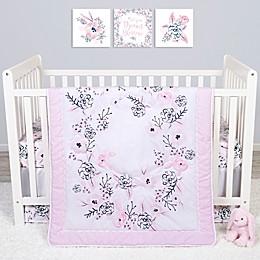 Sammy & Lou 4-Piece Simply Floral Crib Bedding Set