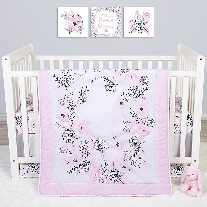 Alternate image 1 for Sammy & Lou 4-Piece Simply Floral Crib Bedding Set