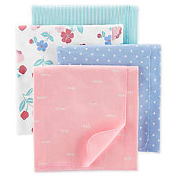 carter's® 4-Pack Floral Receiving Blankets in Blue
