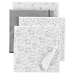 carter's® 4-Pack Lamb Receiving Blankets in White