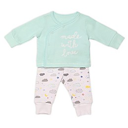 "Baby Starters® 2-Piece ""Made With Love"" Kimono Top and Pant Set"