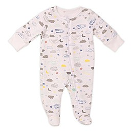 Baby Starters® Quilted Clouds Footie in Ivory