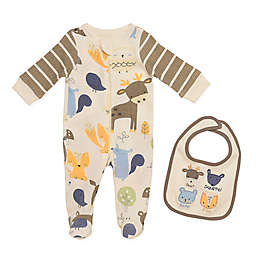 Baby Starters® 2-Piece Woodland Animals Footie and Bib Set