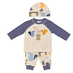 Baby Starters® 3-Piece Fuzzy Animals Top, Pant, and Hat Set