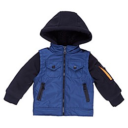Urban Republic Fleece Hooded Jacket in Navy