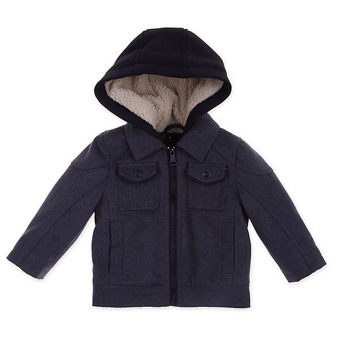 Alternate image 1 for Urban Republic Hooded Toddler Jacket in Charcoal