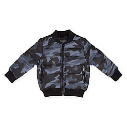 Urban Republic Puffer Bomber Jacket in Charcoal