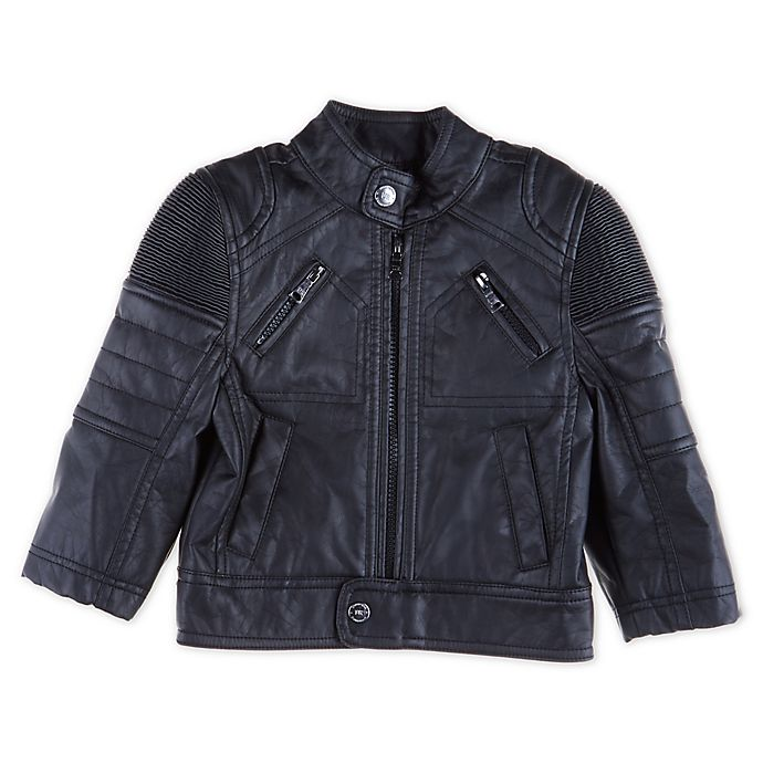 Alternate image 1 for Urban Republic Faux Leather Moto Jacket in Black
