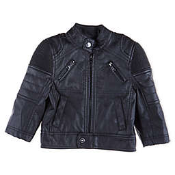 Urban Republic Faux Leather Moto Jacket in Black