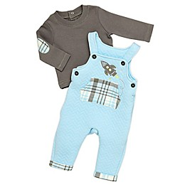 Baby Starters® 2-Piece Top and Quilted Overall Set in Blue