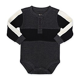 Planet Cotton® Long Sleeve Thermal Bodysuit in Charcoal