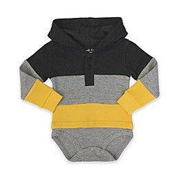 Planet Cotton® Hooded Thermal Bodysuit in Grey