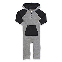 Planet Cotton® Hooded Raglan Coverall in Grey
