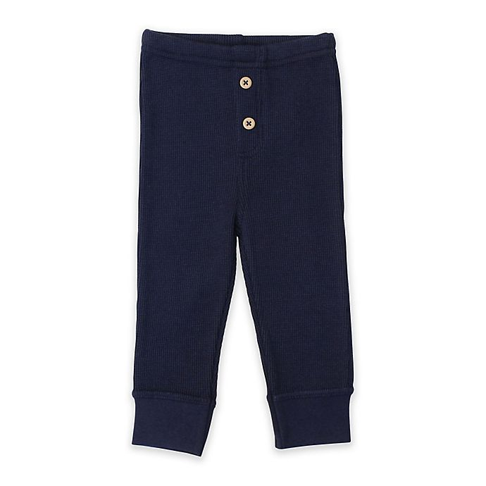 Alternate image 1 for Planet Cotton® Cotton Thermal Pants in Navy