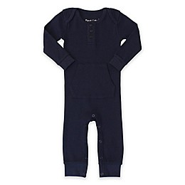 Planet Cotton® Cotton Thermal Coverall in Navy
