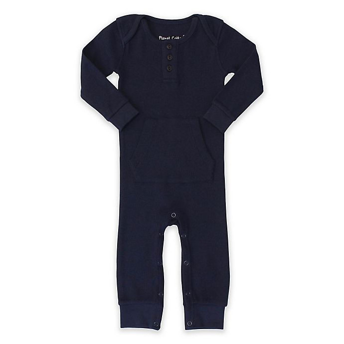 Alternate image 1 for Planet Cotton® Cotton Thermal Coverall in Navy