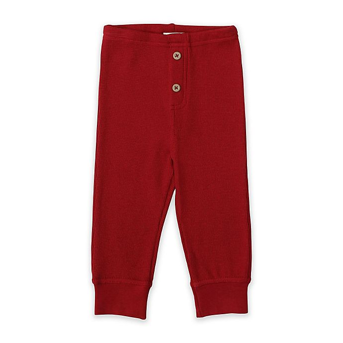 Alternate image 1 for Planet Cotton® Cotton Thermal Pants in Red
