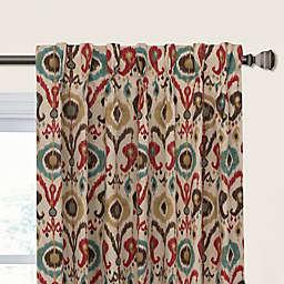 Holiday Ikat Pinch Pleat Room Darkening Window Curtain Panel (Single)