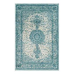 Unique Loom Midnight 4' x 6' Area Rug in Turquoise