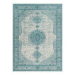 Unique Loom Midnight 9' x 12' Area Rug in Turquoise