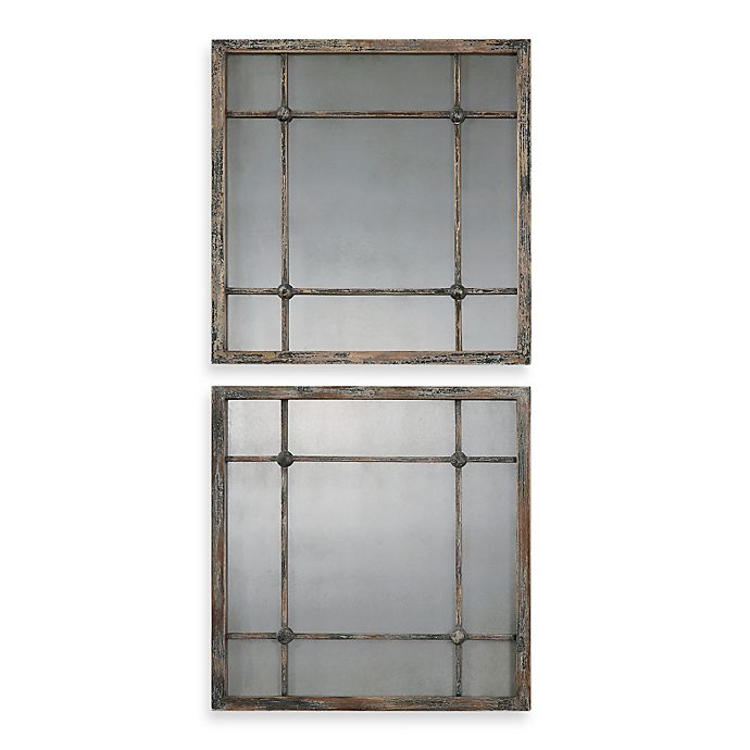 Alternate image 1 for Uttermost Saragano Square Mirrors (Set of 2)