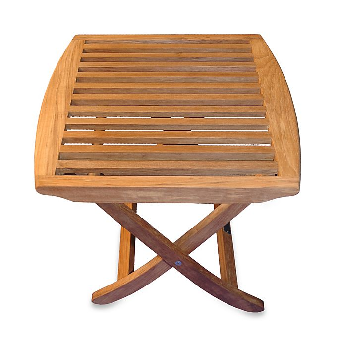 Outstanding Teak Folding End Table Foot Stool Bed Bath Beyond Andrewgaddart Wooden Chair Designs For Living Room Andrewgaddartcom