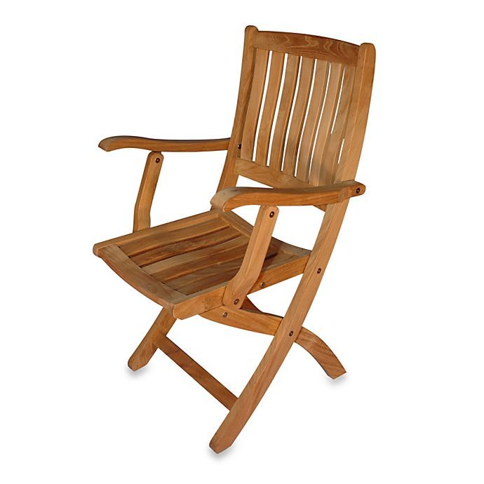 Terrific Teak Providence Folding Dining Chairs With Arms Set Of 2 Customarchery Wood Chair Design Ideas Customarcherynet