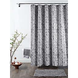 Croscill Sloan 72-Inch x 84-Inch Shower Curtain in Grey