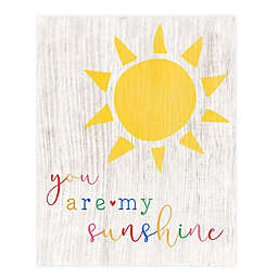"""Courtside Market """"You Are My Sunshine"""" 20-Inch x 24-Inch Canvas Wall Art"""