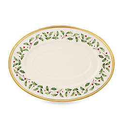Lenox® Holiday™ 16-Inch Oval Platter in Ivory