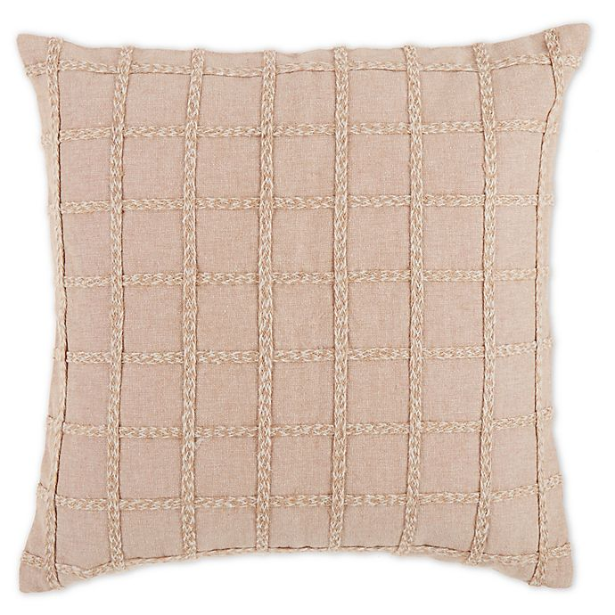 Alternate image 1 for Bee & Willow™ Home Harvest Floral Geometric Square Throw Pillow in Sand