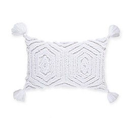 Bee & Willow™ Home Harvest Floral Oblong Throw Pillow in White