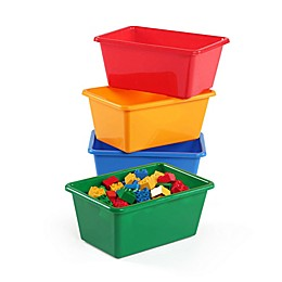 Tot Tutors 4-Piece Standard Storage Bins in Primary