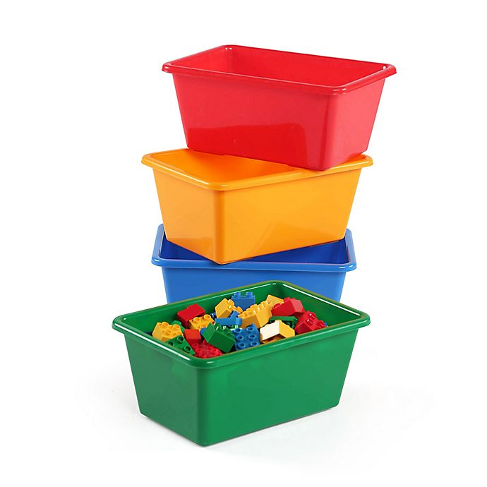 Alternate image 1 for Humble Crew 4-Piece Standard Storage Bins in Primary