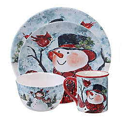 Certified International Watercolor Snowman Dinnerware Collection
