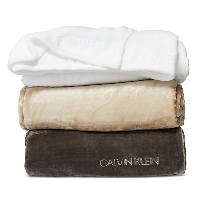 Alternate image 1 for Calvin Klein Michael Blanket