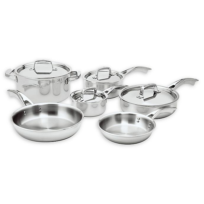 Alternate image 1 for Zwilling® J.A. Henckels Truclad 10-Piece Stainless Steel Cookware Set