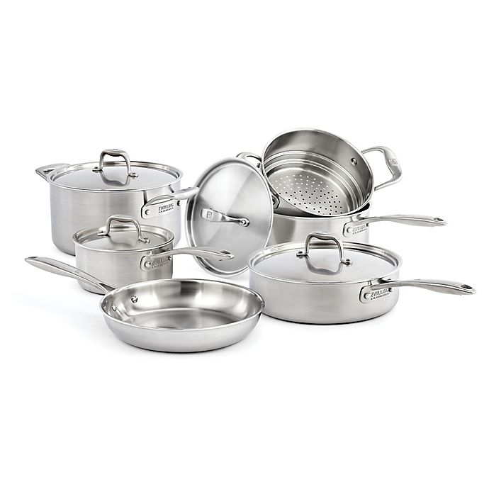 Alternate image 1 for Zwilling® J.A. Henckels Sol II Stainless Steel 10-Piece Cookware Set