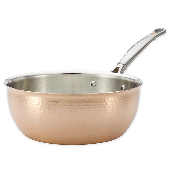 Alternate image 1 for Ruffoni Symphonia Cupra 4 qt. Handmade Copper Chef Pan