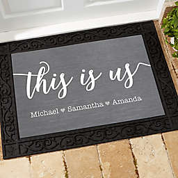 This is Us Personalized 18-Inch x 27-Inch Doormat