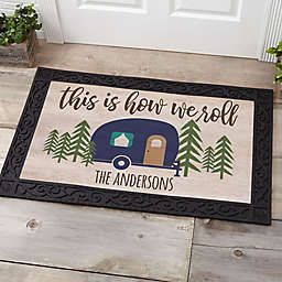 Happy Campers Personalized 20-Inch x 35-Inch Doormat