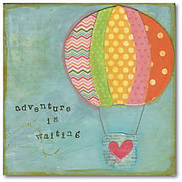 """Courtside Market® """"Adventure is Waiting"""" 24-Inch Square Canvas Wall Art"""