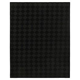 Diamond Area Rug in Black