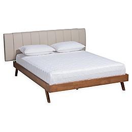 Baxton Studio® Delicia Upholstered Platform Bed