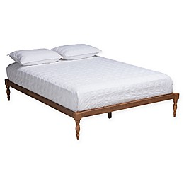 Baxton Studio Tisha Platform Bed in Walnut