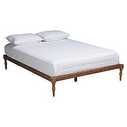 Baxton Studio Tisha Platform Bed in Walnut