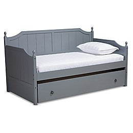Baxton Studio Clancy Finished Wood Twin Daybed with Trundle