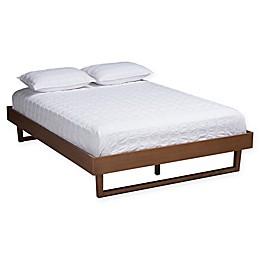 Baxton Studio® Tilly Wood Platform Bed in Walnut