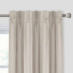Lina Stripe Pinch Pleat Room Darkening Window Curtain Panel
